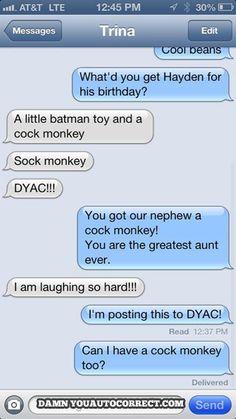 funny auto-correct texts - The Best Autocorrects Of January 2014!