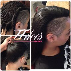 how to do a versatile sew in hairstyles with shaved sides - Google Search
