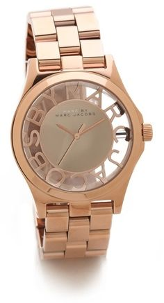 Marc by marc jacobs Henry Skeleton Watch $250.00