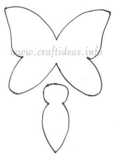 Las chorradikas de Laury: Patrón mariposa para aplique o fieltro