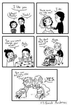 This is like the cutest thing ever. I'm so much like this girl, too.