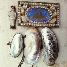 Antique Victorian Shell Art by grindstonegirl ( kathi roussel ), via Flickr