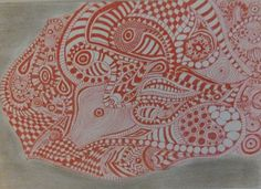 #doodles #zengtales #drawing Mijn gedachten laten mijn pen bewegen.