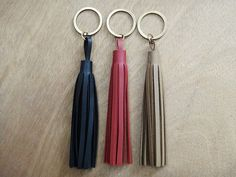 Items similar to OFF Handmade Faux Leather Keychain / Black, Βordeaux, Light Brown Colors / Large Tassel Key Charm / Bag Charm Accessory / Lobster Clasp on Etsy Leather Tassel Keychain, Handmade Jewellery, Key Chain, Im Not Perfect, Tassels, Jewelry Accessories, Charmed, Bags, Etsy