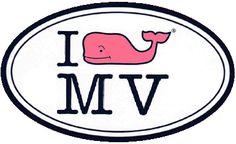 Vineyard Vines - I (Whale) Martha's Vineyard (MV) sticker