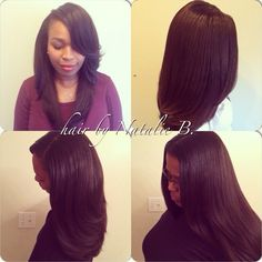 Versatile Sew In Styles With Color moreover Long Side Part Sew In ...