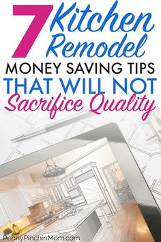 """Ways to Save Money"" Planning a kitchen remodel? How you can save money remodeling your kitchen and still get everything you want! Don't plan your dream kitchen until you learn these expert tips on yo Saving Ideas, Money Saving Tips, Budget Planer, Kitchen On A Budget, Kitchen Hacks, Kitchen Ideas, Kitchen Designs, Pantry Ideas, Frugal Living Tips"