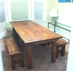 would LOVE a kitchen table like this!!! Modern Farm Table