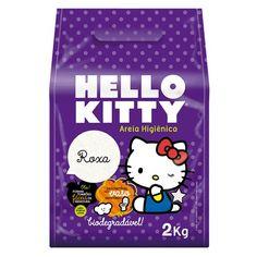 Areia Higiênica Hello Kitty Roxa - Meuamigopet.com.br #cat #cats #gato #gatinho #bigode #muamigopet