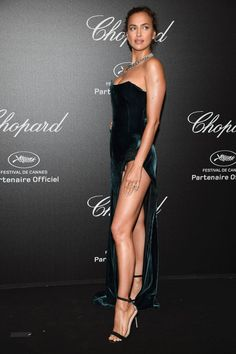 Irina Shayk Photos - Irina Shayk attends Chopard Secret Night during the annual Cannes Film Festival at Chateau de la Croix des Gardes on May 2018 in Cannes, France. - Chopard Secret Night - Arrivals - The Annual Cannes Film Festival Irina Shayk Photos, Girl Fashion, Fashion Outfits, Sexy Legs And Heels, Russian Models, Sports Illustrated, Facon, Beautiful Legs, Red Carpet Fashion