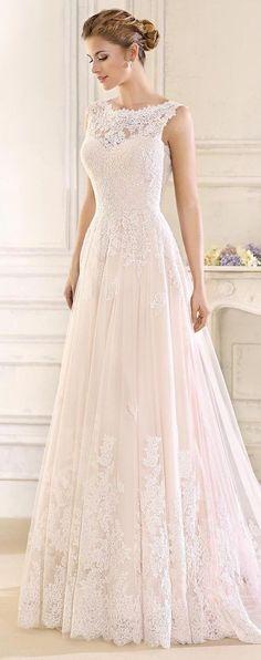 Sleeveless lace Wedding Dress by Fara Sposa 2017 Bridal Collection