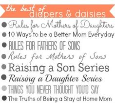 This blog's posts are full of advice & reminders that being a good mom isn't about the cleanest house, most toys, best vacations... it's about listening, playing & not sweating the small stuff