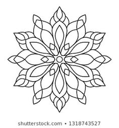 Simple Mandala Tattoo, Easy Mandala, Mandala Drawing, Mandala Art, Step By Step Henna, Vintage Tattoo Design, Pyrography Designs, Creative Arts Therapy, Floral Doodle