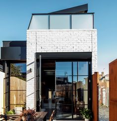 This renovation and extension to a narrow single fronted terrace house was the beginning of a family's unconventional move from suburbia to inner city Fitzroy. Our clients sought to create an edgy yet comfortable urban home for themselves and their two grown up children.