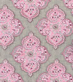 "Two Daughters™ Cotton Fabric 43""-Large Medallion With Foliage"