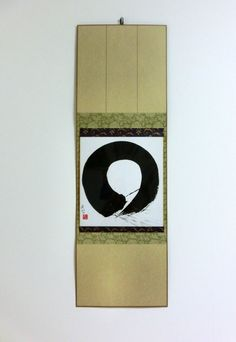 Original Abstract Painting Japanese Art Enso Zen by LennaArty