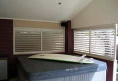 Australian made Indoor and Outdoor Plantation Shutters based in Sydney. Quality Aluminium and Timber Shutters for residential homes and commercial buildings. House Shutters, Newport, Blinds, Home Appliances, Indoor, Curtains, Bedroom, Building, Home Decor