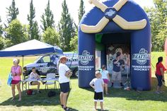 Puck Shoot Booth at 4th of July Splash 2015
