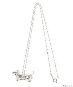 Hotdog Dog Necklace (Silver)