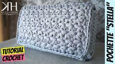 "Tutorial uncinetto pochette ""Stella"" | Punto stella | Crochet star stitc..."