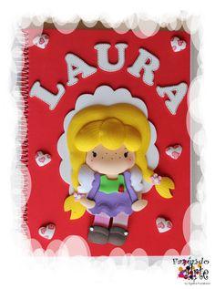 Caderno Decorado e Personalizado - Laura