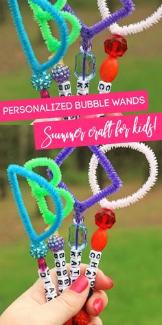 Try these homemade bubble wands to make and enjoy outdoors with the kids. A frugal activity to do outside with the kids on a warm day. #passion4savings #diy #project #forkids #bubbles #wands #homemade #pipecleaners Homemade Bubble Wands, Homemade Bubble Solution, Homemade Moon Sand, Homemade Bubbles, Diy For Kids, Crafts For Kids, Fun Crafts, Bubble Crafts, Bubble Magic