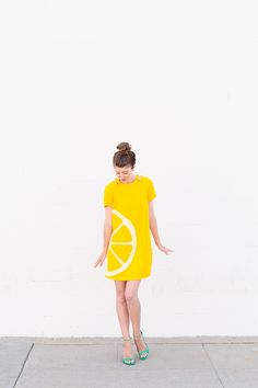 DIY Orange Slice Costume