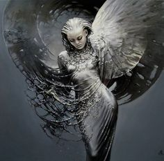 Polish Artist Karol Bak. Beautiful Angels and Demons ~ Blog of an Art Admirer artistsandart.org