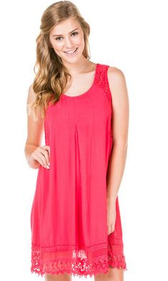 Coral Woven Sun Dress by GaudieandCompany on Etsy, $56.00
