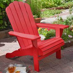 Belham Living Shoreline Adirondack Chair - Red - Adirondack Chairs at Hayneedle