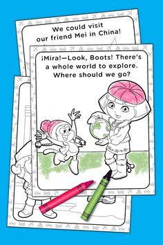 Dora Around The World Coloring Pack
