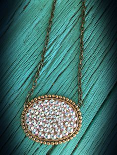The Bling Box - Pink Panache AB Swarovski Crystal Oval Necklace, $36.99 (http://www.theblingboxonline.com/pink-panache-ab-swarovski-crystal-oval-necklace/)