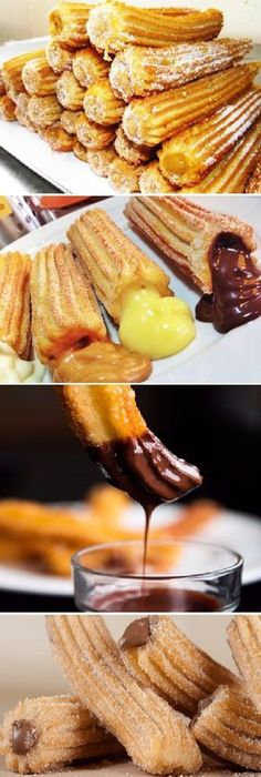 Delicious Churros Recipes Online is under construction Mexican Food Recipes, Sweet Recipes, Dessert Recipes, Venezuelan Food, Chilean Recipes, Pan Dulce, Snacks, Cookie Desserts, Cupcake Cakes