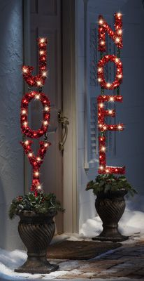 Lighted Christmas Garden Stake