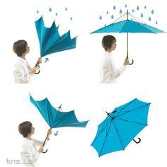 【UnBRELLA】逆さ傘(ターコイズ)