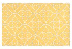 Pattern + color | 8'x11' Char Flat-Weave Rug, Yellow on OneKingsLane.com