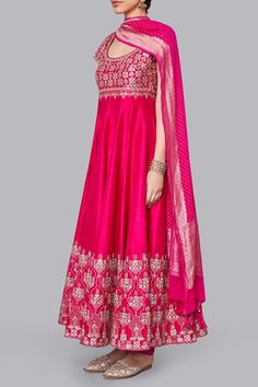 Designer Suits - Buy Anika Suit for Women Online - Pink - Anita Dongre Pakistani Dress Design, Pakistani Outfits, Pakistani Bridal, Bridal Lehenga, Indian Gowns, Indian Attire, Indian Wear, Indian Wedding Outfits, Indian Outfits