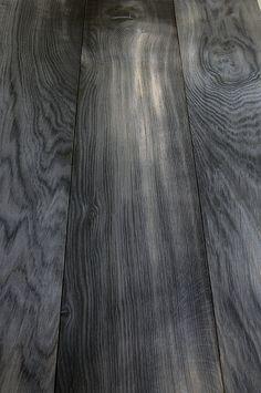 Bog oak floor boards.