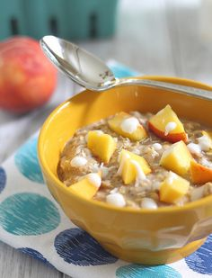 peaches n coconut cream oats peaches n cream oats via gina giampaolo ...