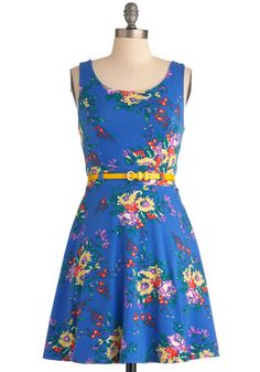 Friendly Floral Arrangements Dress, #ModCloth