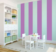 Sticky stripes- No Painting!  Wall Stripes Custom Vinyl Art Stickers by danadecals, $40.00