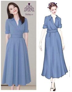 Pin by Luzangery Santana on Ropa para hacer in 2019 Simple Dresses, Pretty Dresses, Beautiful Dresses, Casual Dresses, Modest Fashion, Hijab Fashion, Fashion Dresses, Dress Outfits, Dress Up
