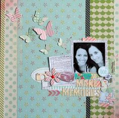 Butterflies used by Karine in this lovely layout