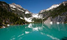 Blanca Lake is located in the Henry M. Jackson Wilderness Area in the Cascade Mountains of the U. state of Washington. Blanca Lake is accessible only by foot, along the Blanca Lake Trail. Oh The Places You'll Go, Places To Travel, Places To Visit, Evergreen State, Cascade Mountains, Washington State, Washington Hiking, National Forest, The Great Outdoors