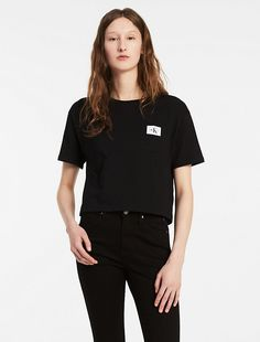 Image for logo pocket cropped t-shirt from Calvin Klein