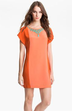 Trina Turk 'Edgewater' Embellished Silk Shift Dress available at #Nordstrom
