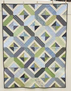 Amy Smart Patterns - Double Crossed  Baby boy quilt :) I think this is it!