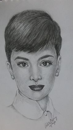 Audrey Hepburn was a British actress, model, dancer and humanitarian. Recognized as a film and fashion icon, Hepburn was active during Hollywood's Golden Age. Celebrity Drawings, British Actresses, Pencil Portrait, Golden Age Of Hollywood, Audrey Hepburn, Style Icons, Dancer, Sketches, Portraits