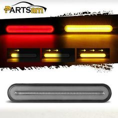 4 x Smoke Lens//Amber Side Fender Marker Light Clearance Sealed LED Trailer Lamps