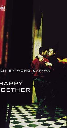 CHINESE GAY CINEMA: HAPPY TOGETHER. Directed by Kar Wai Wong.  Yiu-Fai and Po-Wing arrive in Argentina from Hong Kong and take to the road for a holiday. Something is wrong and their relationship goes adrift. A disillusioned Yiu-Fai starts working at a tango bar to save up for his trip home. When a beaten and bruised Po-Wing reappears, Yiu-Fai is empathetic but is unable to enter a more intimate relationship. After all, Po-Wing is not ready to settle down. ...